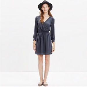 NWT Madewell silk faux wrap dress size 2